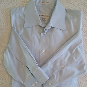 Men's dress long sleeve shirt buttons up